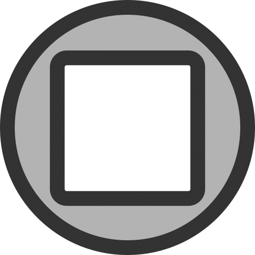 stop button square