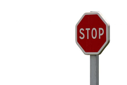 stop sign red