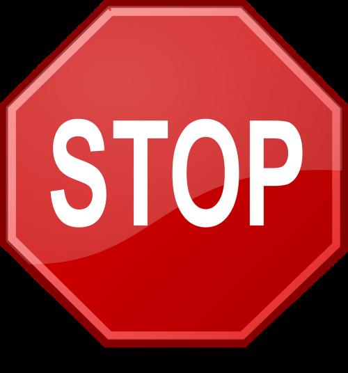 stop halt blocked