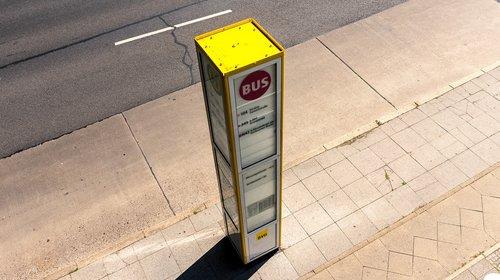 stop  bus stop  wait