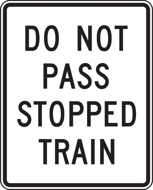 stop do not pass road