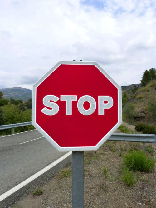 stop signal road