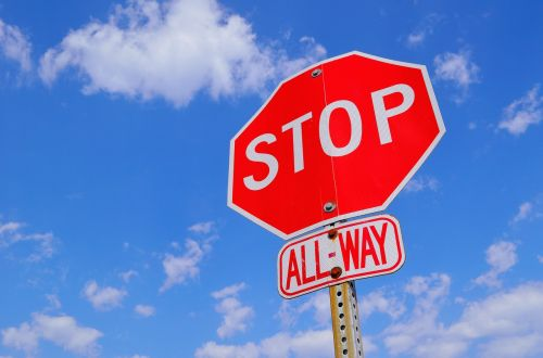 stop sign attention stop