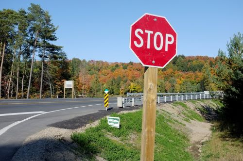 stop sign road sign