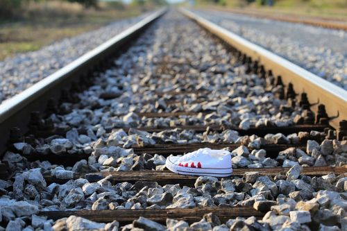 stop teenager suicide bloody sneaker on railway remembering kids and teens