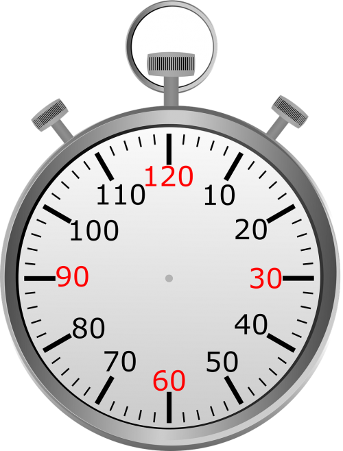stop watch time seconds