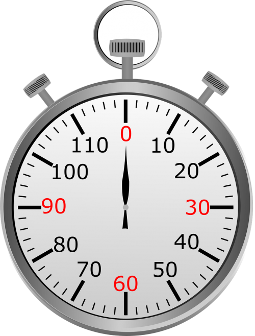 stop watch seconds minutes