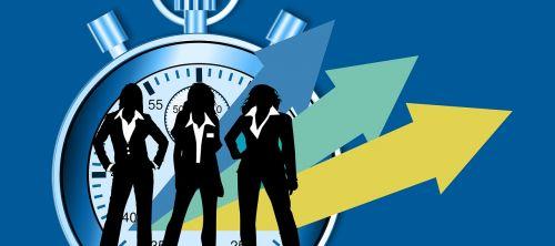 stopwatch time management businesswomen
