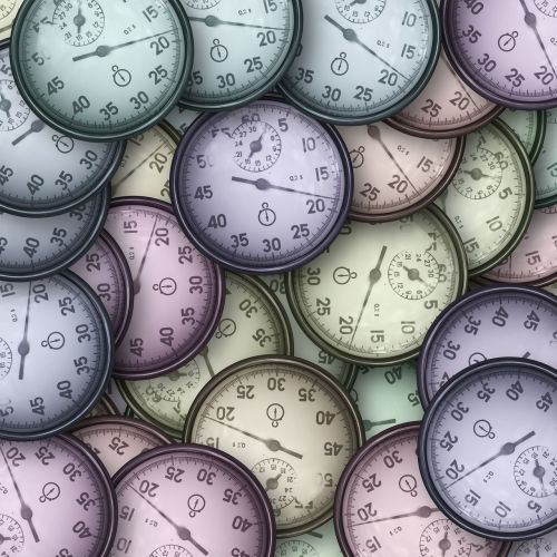 stopwatch clock many