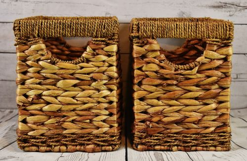 storage basket water hyacinth