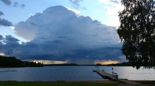 storm summer rain