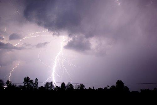 storm  lightning  night