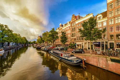 Storm Approaching In Amsterdam