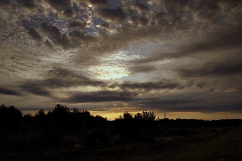 storm clouds cloud cover sunrise