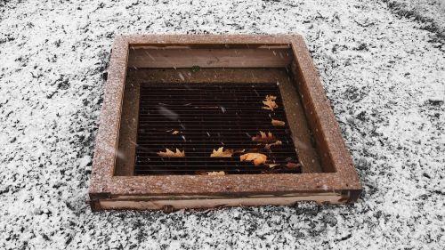 storm drain drain snow