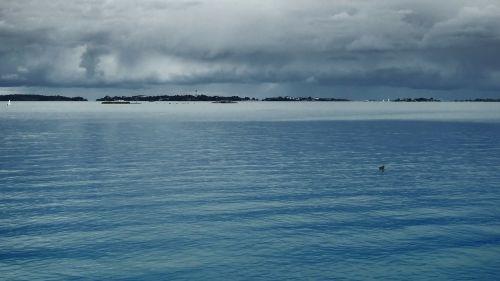 storm front sea sea shore