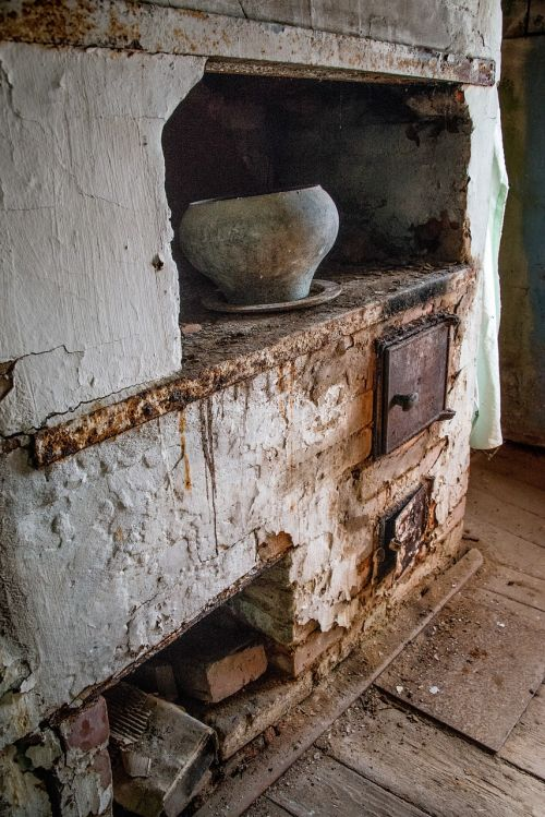 stove old house antiquity