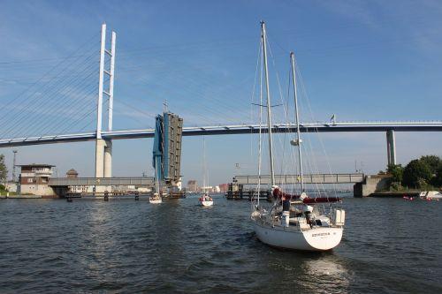 stralsund sailing boat bridge