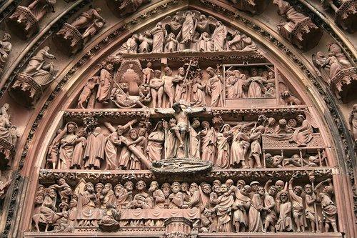 strasbourg  münster  stonemason work
