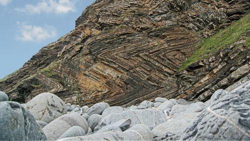 strata folded rock