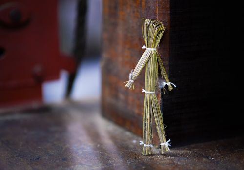 straw puppet doll