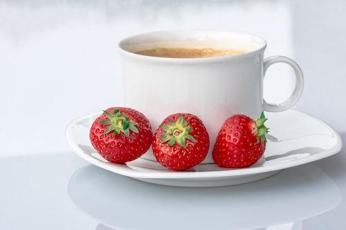 strawberries coffee cup coffee