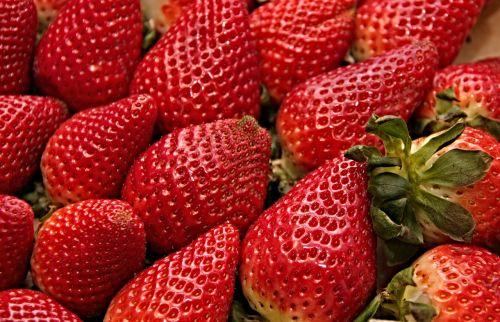 strawberries red sweet