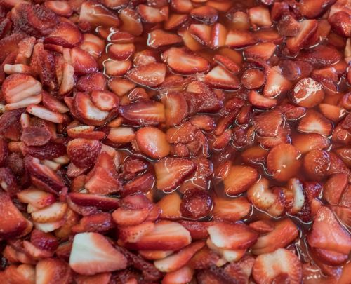 strawberries food dry
