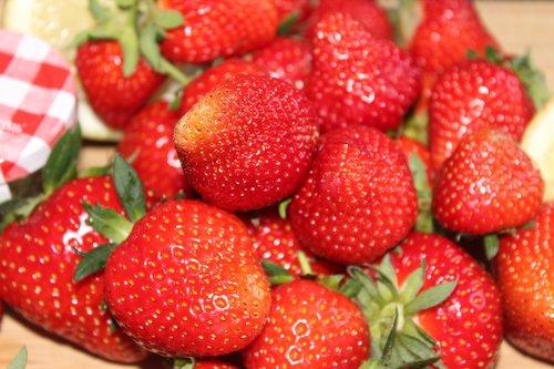 strawberries  jam  spread