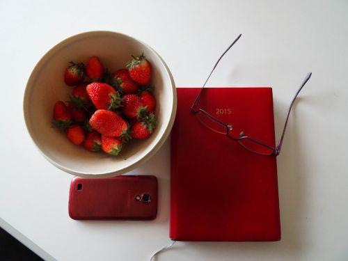 strawberries agenda glasses