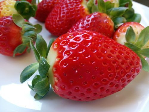 strawberries red food