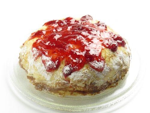 strawberry cake fruit