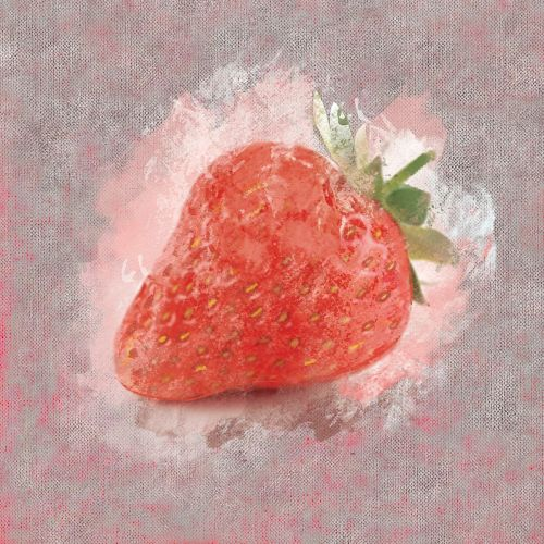strawberry watercolor fruit