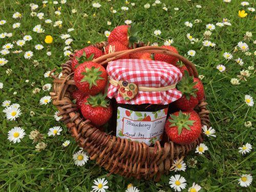 strawberry jam basketwork strawberry