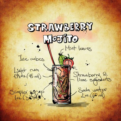 strawberry mojito cocktail drink