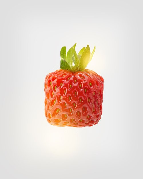 strawberry square  strawberry geometric  strawberry different