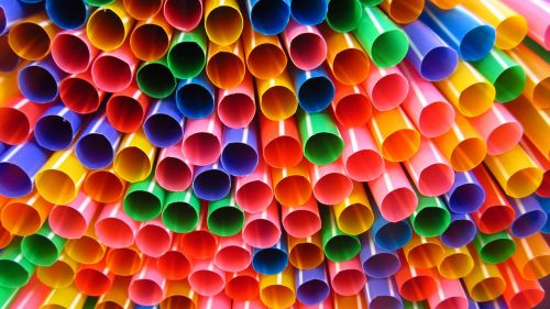 straws colorful many