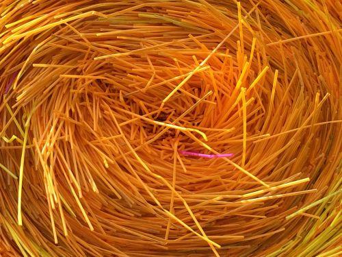 straws yellow plastic