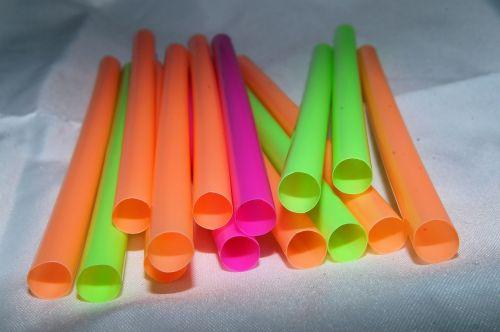 straws colorful plastic