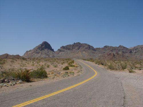 street mountains desert