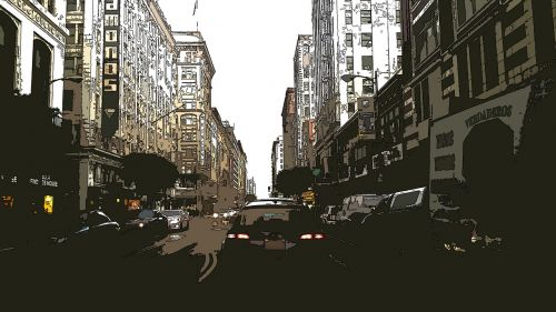 street scene city