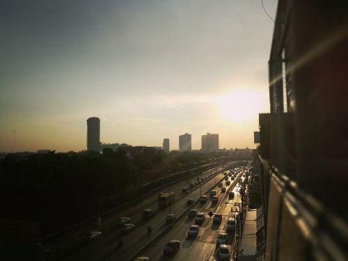 street morning sun