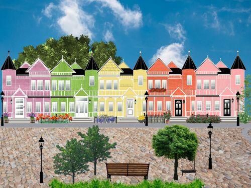street houses facade
