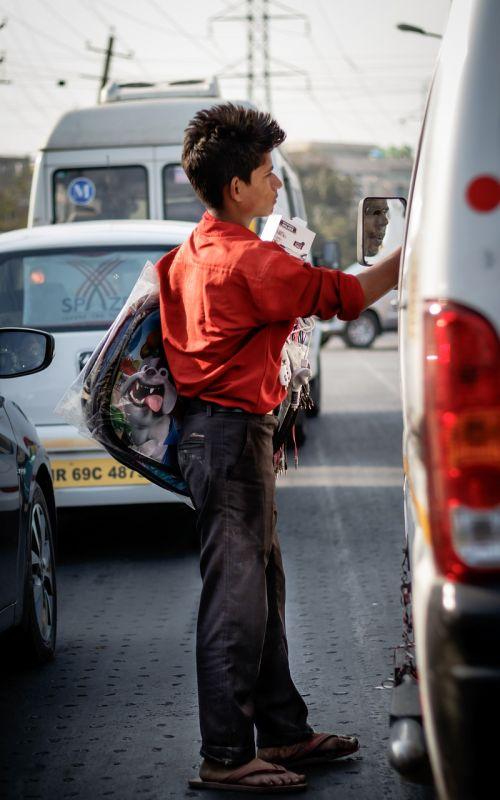 street selling kid