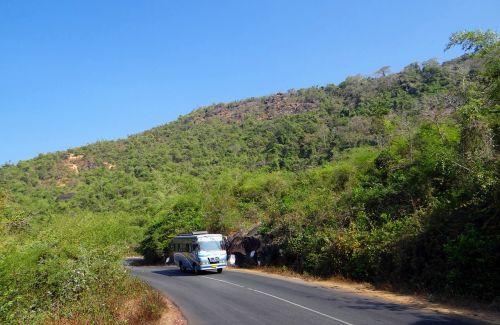 street road uphill