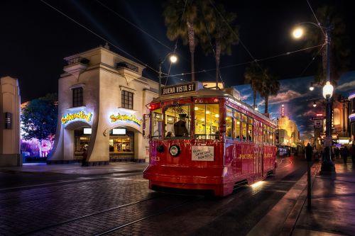 street illuminated travel