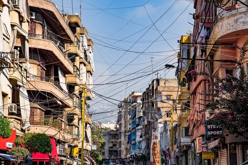 street  buildings  cables