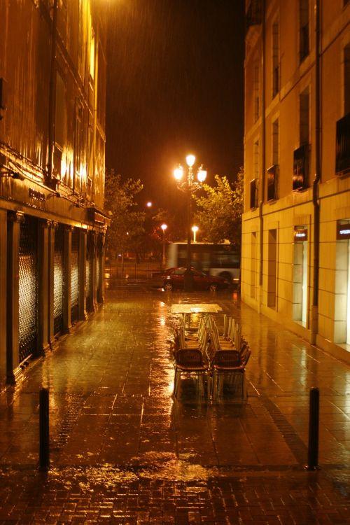 street rain night