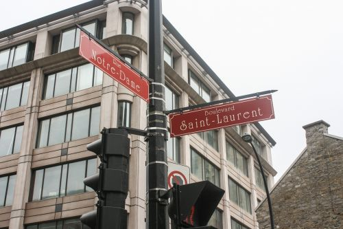 street sign montreal