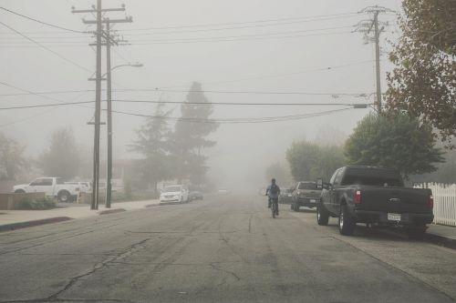 street pavement fog